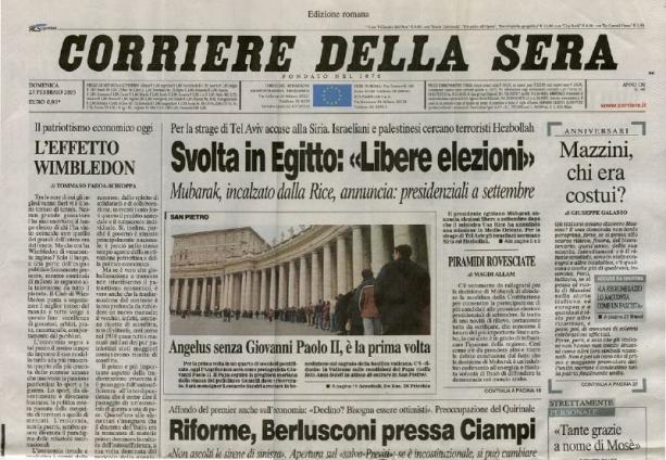 Stampa di sinistra i numeri smentiscono il cavaliere for Corriere della sera arredamento